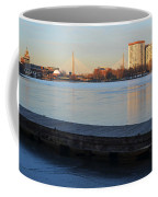 Frozen Dock On The Charles River Coffee Mug