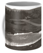 Frozen Pond Camp Ground Panorama Coffee Mug