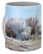 Frozen Trees By The Lake Coffee Mug