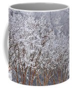 Frozen Trees During Winter Storm Coffee Mug