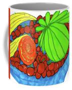 Fruit In A Blue Bowl Coffee Mug