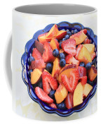 Fruit Salad In Blue Bowl Coffee Mug