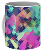 Fruity Rose   Fancy Colorful Abstraction Pattern Design  Green Pink Blue  Coffee Mug