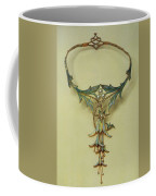 Fuchsia Necklace Alphonse Maria Mucha Coffee Mug