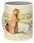 Fuertes, Louis Agassiz 1874-1927 - Burgess Animal Book For Children 1920 Prairie Dog Coffee Mug