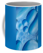 Fulfilment, Blue Abstract Art Coffee Mug