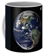 Full Earth Showing North And South Coffee Mug