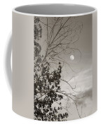 Full Moon Behind Cottonwood Tree Coffee Mug