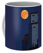Full Moon Behind Tuxford Grain Elevator Coffee Mug