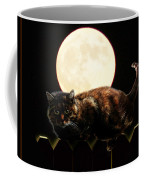 Full Moon Cat Coffee Mug