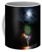 Full Moon Fireworks Coffee Mug