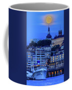 Full Moon Over The Katarina Church And Sodermalm In Stockholm Coffee Mug