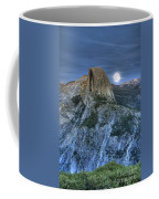 Full Moon Rising Behind Half Dome Coffee Mug