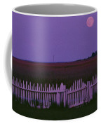 Full Moon Rising Over A Picket Fence Coffee Mug by Robert Madden
