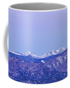 Full Moon Setting Over The Colorado Rocky Mountains Coffee Mug