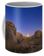 Full Moonrise At City Of Rocks State Coffee Mug