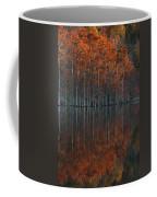 Full Of Glory - Cypress Trees In Autumn Coffee Mug
