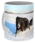 Fun In The Snow Running Coffee Mug