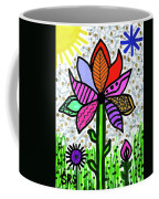 Funky Flower Mod Pop Coffee Mug