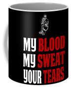 Funny Baseball Pitcher Design My Blood Coffee Mug