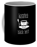 Funny Karate Design Karatea Black Belt White Light Coffee Mug