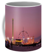 Funtown Pier At Sunset IIi - Jersey Shore Coffee Mug by Angie Tirado