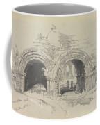 Furness Abbey East  29 August 1836 By Edward Lear  1836 Coffee Mug