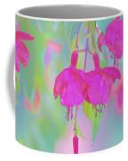 Fuchsia Flower Abstract Coffee Mug