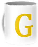 G In Mustard Typewriter Style Coffee Mug