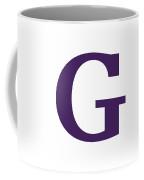G In Purple Typewriter Style Coffee Mug