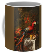 Gabriello Salci  Fruit Still Life With A Parrot Coffee Mug