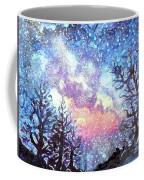 Galaxy Spring Night Watercolor Coffee Mug