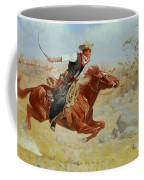 Galloping Horseman Coffee Mug by Frederic Remington