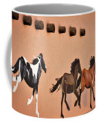 Galloping Horses Mural - Taos Coffee Mug