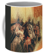 Galloping Wild Mustang Horses Coffee Mug