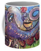 Ganesha With Poppies Coffee Mug