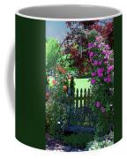 Garden Bench And Trellis Coffee Mug