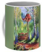Garden Birdhouse Coffee Mug