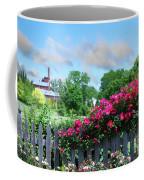 Garden Fence And Roses Coffee Mug