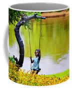 Garden Swing By The River Coffee Mug
