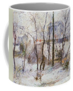 Garden Under Snow Coffee Mug
