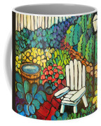 Garden With Lamp By Peggy Johnson Coffee Mug