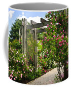 Garden With Roses Coffee Mug