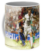 Gareth Bale Celebrates His Goal  Coffee Mug