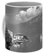 Gargnano On Lake Garda, Italy.    Black And White Coffee Mug