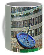 Garment Distric Button Watercolor Coffee Mug