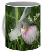 Garnished Showy Lady Slipper Coffee Mug
