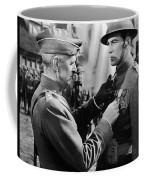 Gary Cooper Getting A Medal Of Honor As Sergeant York 1941 Coffee Mug