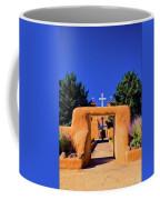 gate of church in Ranchos Coffee Mug
