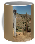 Gate Out Of Virginia City Nv Cemetery Coffee Mug